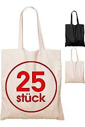 531aa1729f609 25 Stück Baumwolltasche 38 x 42 cm unbedruckt lange Henkel Stofftasche  Tragetasche Umhängebeutel Baumwollbeutel Jutebeutel ÖKO
