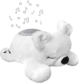PureBaby Sound Sleepers Portable Sound Machine & Star Projector - Plush Sleep Aid for Baby and Toddlers with Soothing Nigh...