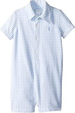 Ralph Lauren Baby - Gingham Cotton Mesh Shortalls (Infant)