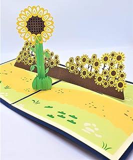 BC Worldwide Ltd carta pop-up 3D fatta a mano girasole compleanno anniversario di matrimonio festa della mamma grazie salu...