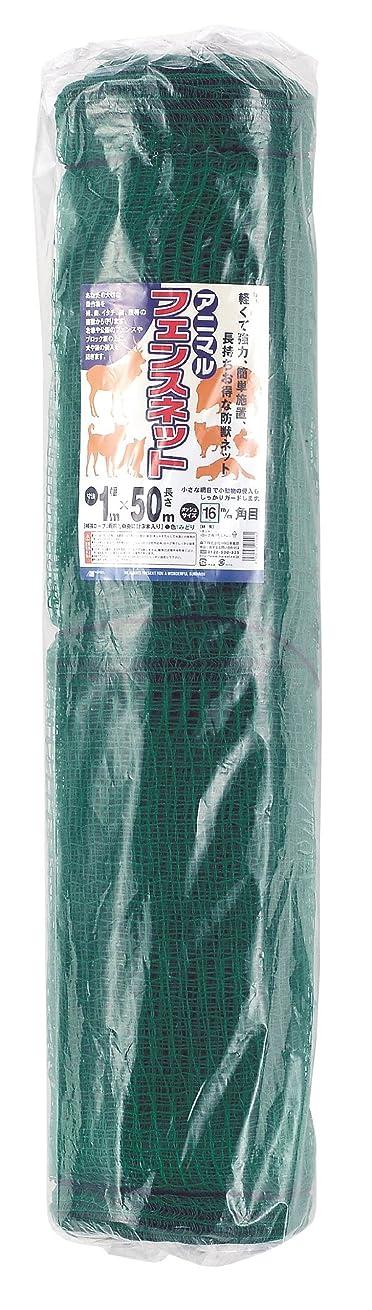 地元薄める間違いなくマルソル(MARSOL) アニマルフェンスネット 16mm角目1×50m 緑色 ラッセル
