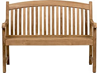 Amazonia Newcastle Patio Bench |Made of Real Teak| Perfect for backyards, Gardens or Parks, Light Brown