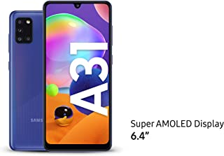 Samsung Galaxy A31 Dual SIM, 128GB, 4GB RAM, 4G LTE, UAE Version - Blue- 1 year local brand warranty