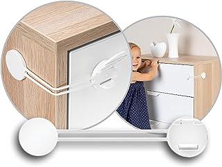 reer Multi-Sicherung, Kindersicherung für Schrank, Schublade und mehr, vom schwäbischen Kindersicherheitsexperten, weiß