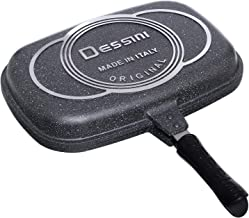Dessini 1080044 Double Gril Pan, Grey