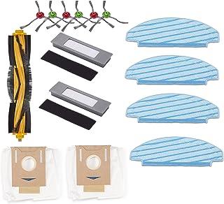 Supremery Zestaw akcesoriów do ECOVACS DEEBOT OZMO T8 / T8 AIVI worki do odkurzaczy ścierki filtrujące rolka szczotki i sz...