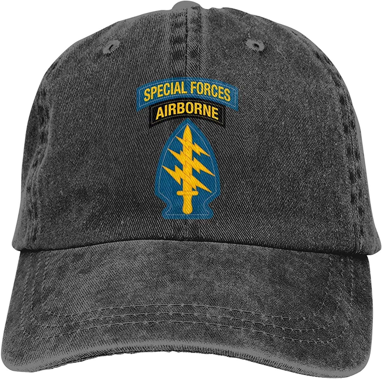 U.S. Army Special Forces Outdoor Men's Baseball Cap Sports and Leisure Adjustable Cowboy Hat Performance Cap Red