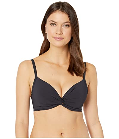 Bleu Rod Beattie Kore Tops Twist Front Over the Shoulder Bra (Black) Women