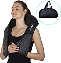 Shiatsu Back Neck Shoulder Massager with Heat – Electric Full Body 3D Kneading Massage Pillow - Deep Tissue Massage - Relieve Muscle Pain & Stress at The Home, Office, Car or on Holiday
