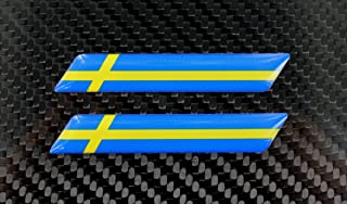 Sweden Flag 3d Decal Sticker Set 3