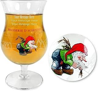 TUFF LUV Personalised/Engraved Glasses/Barware CE 330ml for La Chouffe