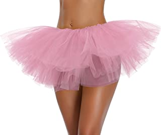 Women's, Teen, Adult Classic Elastic 3, 4, 5 Layered Tulle Tutu Skirt