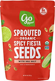 Go Raw Sunflower & Pumpkin Seed Mix with Sea Salt, Spicy Fiesta, 14 oz. Bag | Organic | Keto | Vegan | Gluten Free Snacks