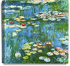 DECORARTS – Water Lily Pond 1914, Claude Monet Art Reproduction. Giclee Canvas..