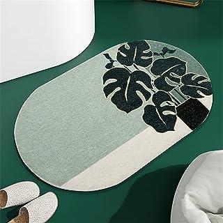 """THRILRUG Oval Indoor Doormat Leaf Rug19.7""""x31.5"""", Absorbent Tropical Door Mat Floor Mats, Non Slip Door Mats Inside Mud Di..."""