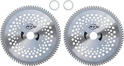 """ATIE 8"""" 80T Carbide Tip Brush Cutter Trimmer Weed Eater Blade (2 Pack)"""