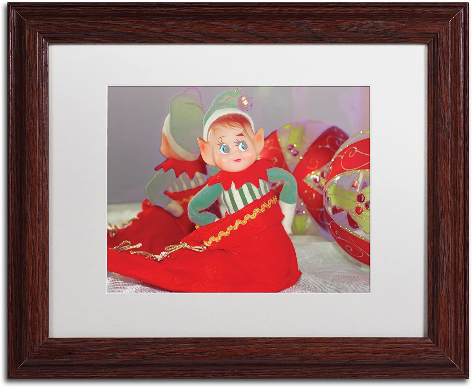Dreams Limited time sale Easy-to-use of Xmas Artwork by Patty 14-Inch Wood 11 Tuggle Frame