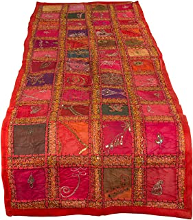 Tribe Azure Fair Trade Red Table Runner Cotton 18