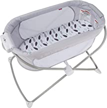 Fisher-Price, Soothing View Bassinet – Climbing Leaves Folding Portable Baby Cradle for Newborns and Infants, Multi
