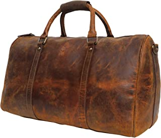 Leather Duffel Bags For Men Women - Airplane Underseat Carry On Luggage By Rustic Town