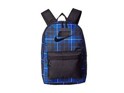 Nike Heritage All Over Print Backpack 2.0 (Black/Game Royal/Black Gs) Backpack Bags