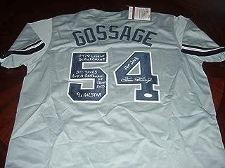 Signed Goose Gossage Jersey - hof2008 310 Saves 1978 Ws Champs coa - JSA Certified - Autographed MLB Jerseys