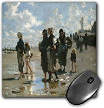 3dRose 8 x 8 x 0.25 Inches Mouse Pad, Oyster Gatherers at Cancale by John Singer Sargent (mp_126831_1)