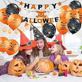 Hook Kit Decorations Halloween,Déco Halloween Deco Halloween Interieur,Kit Halloween Decoration,21PcsBallons, Bannières, 2...
