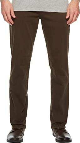 Relaxed Straight Stretch Denim Jeans in Black Olive