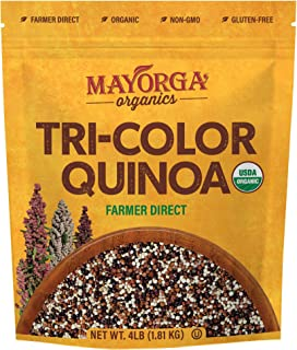 Tri-Color Quinoa by Mayorga Organics, Whole Grain, Gluten Free Superfood, USDA Organic Certified, Vegan, Non-GMO Verified,...
