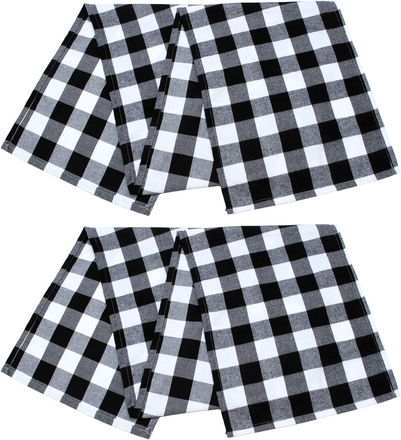 ANECO 2 Pack Sales Table Runner Cotton shop Checkered M Trendy