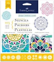 Faber-Castell Mixed Media Paper Stencils - 103 Collection - 13 Reusable Mandala Stencils