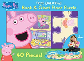 Peppa Pig - First Look and Find Board Book & Giant 40 Piece Puzzle - PI Kids