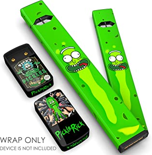 JUUL Skin - JUUL Wrap - JUUL Decal - JUUL Cover - JUUL Starter Kit Stickers - Pax JUUL Skin for Device Charger Pods - Original JUUL Vape Pen Accessories Skin (Pickle Rick)
