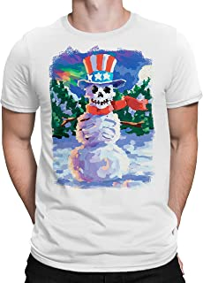 Liquid Blue Uncle Sam Snowman Skeleton Short Sleeve Graphic Tee