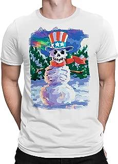 تي شيرت بأكمام قصيرة مرسوم عليه رجل الثلج من Liquid Blue Uncle Sam