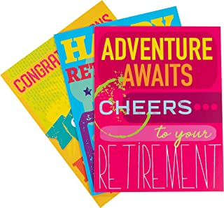 Best Paper Products 3-Pack Large Jumbo Retirement Farewell Cards with Envelopes, 8.5 x 11 Inches Letter-Size for Coworkers, Employee, Boss, 3 Designs