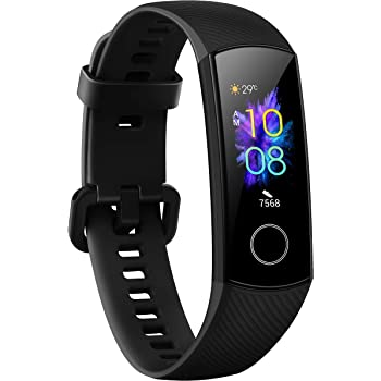 Honor Band 5 Fitness Tracker, Monitoraggio SpO2, Battito Cardiaco 24/7 e Sonno, Display Touch AMOLED 0.95 Pollici, Schermo Curvo da 2.5D, Meteorite Black