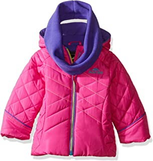 Pacific Trail Girls' Puffer Jacket with Infinity Scarf