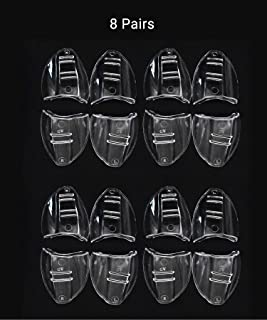 8 Pairs Safety Eyeglasses Side Shield for Small to Medium Eyeglasses, Slip On Clear Side Shield for Safety Glasses