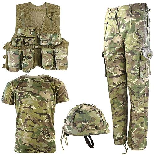 KOMBAT UK BTP Nero Da Uomo Combat Pantaloni-Camouflage Mimetico Esercito Militare
