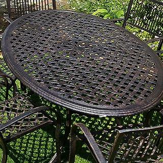 Lazy Susan Nicole 180cm Ovales Gartenmöbelset Aluminium - 1 NICOLE Tisch + 6 ROSE Stühle