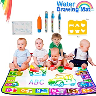 Deals Respect Painting with Water Color Floor Mats for Kids (30in x 30in) - drawing set, preschool water toys, coloring set for kids ages 4-8, preschool graduation gifts, no mess coloring for toddlers