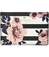 Kate Spade New York - Hyde Lane Rose Stripe Card Holder