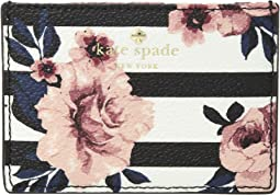 Hyde Lane Rose Stripe Card Holder