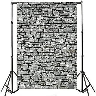 Yeele 5x7ft Gray Brick Wall Backdrop Vintage Grunge Photography Background Nostalgia Irregular Stone Texture Ancient Grey Uneven Cracked Rock Boy Kid Adult Artistic Portrait Photo Shoot Studio Props