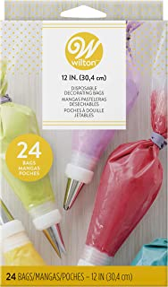 """Wilton 12-Inch Disposable Decorating Bags, 24-Count - 12-Inch Disposable Piping Bags 12"""" 24 count 369381"""