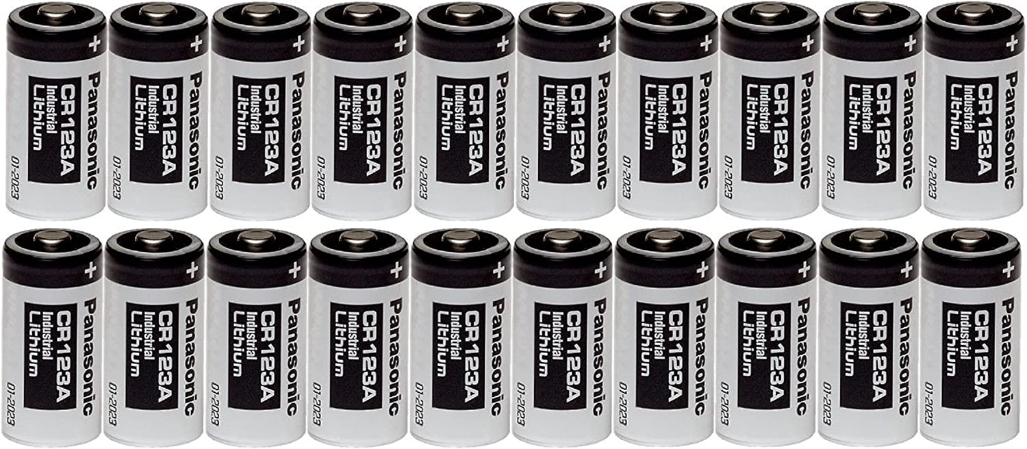 Max 58% OFF List price Panasonic 20 CR123A 123A Industrial 3V Batteries Lithium