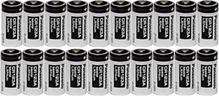 20 Panasonic CR123A 123A Industrial 3V Lithium Batteries
