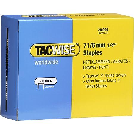 Set de 5000 Piezas Tacwise 0236 Grapas galvanizadas de tipo 13//14 mm